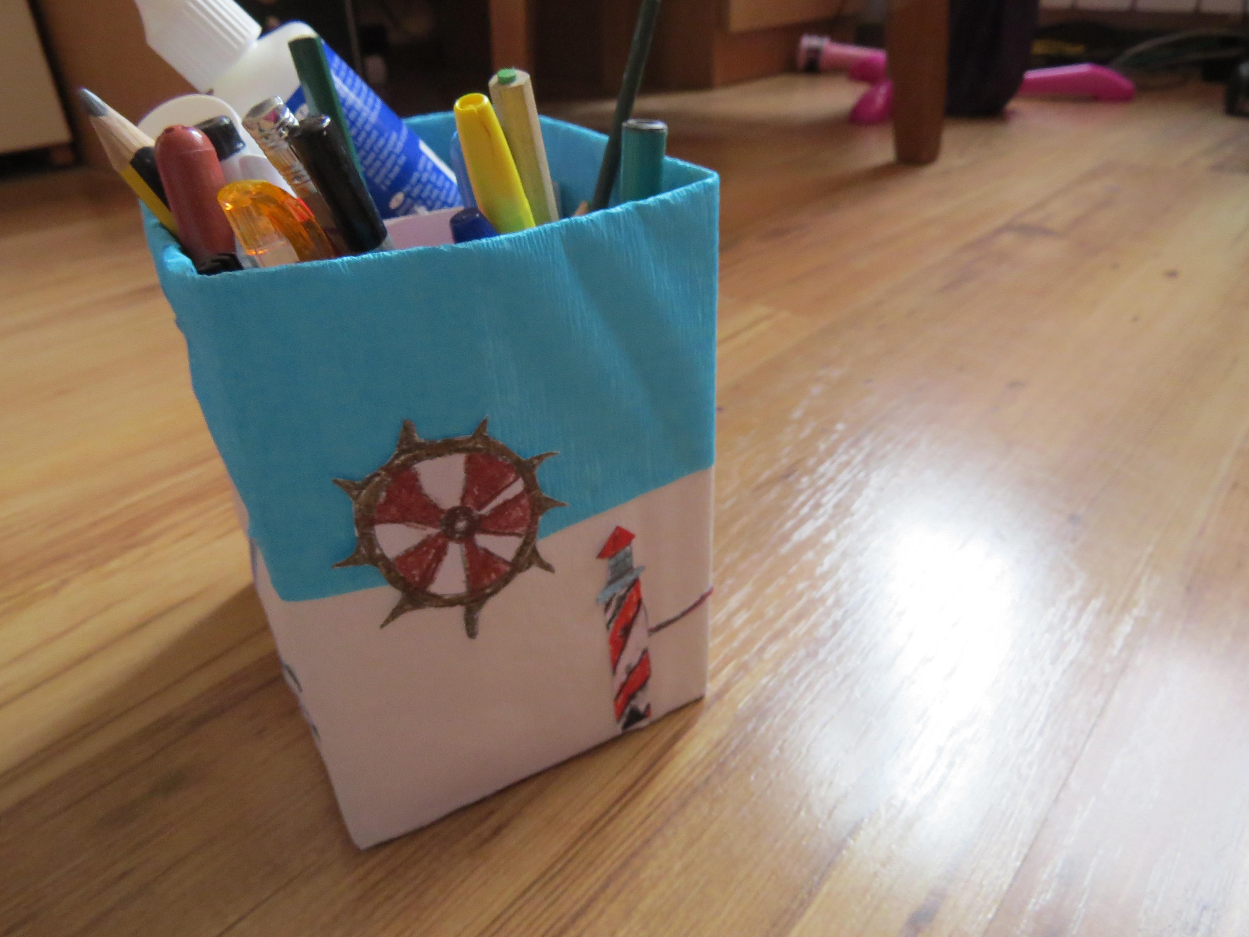 DIY, НСС, морски, моливник, кутия