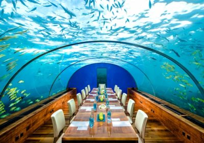 ресторант, Малдивите, вода
