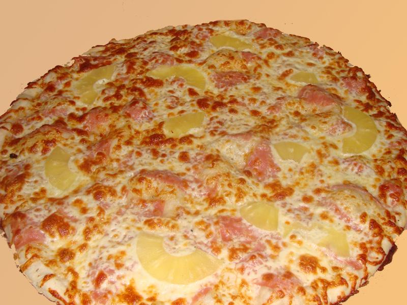 хавай, пица, вкусно, ананас, яйце, чушка