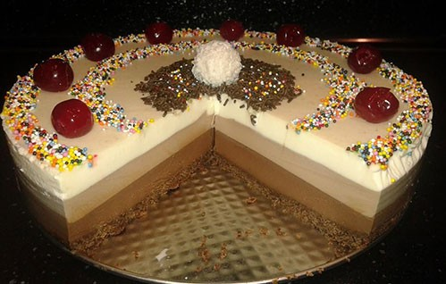 Три шоколада, торта, шоколад, 3, вкусно, храна