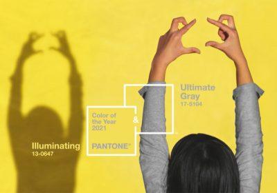 Озаряващо жълто и основно сиво са цветовете на Пантон за 2021
